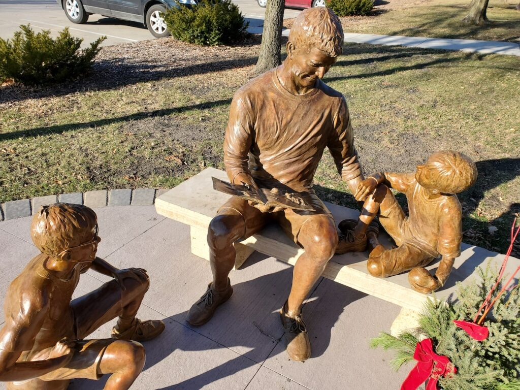 One of the River City Sculptures On Parade in Mason City.