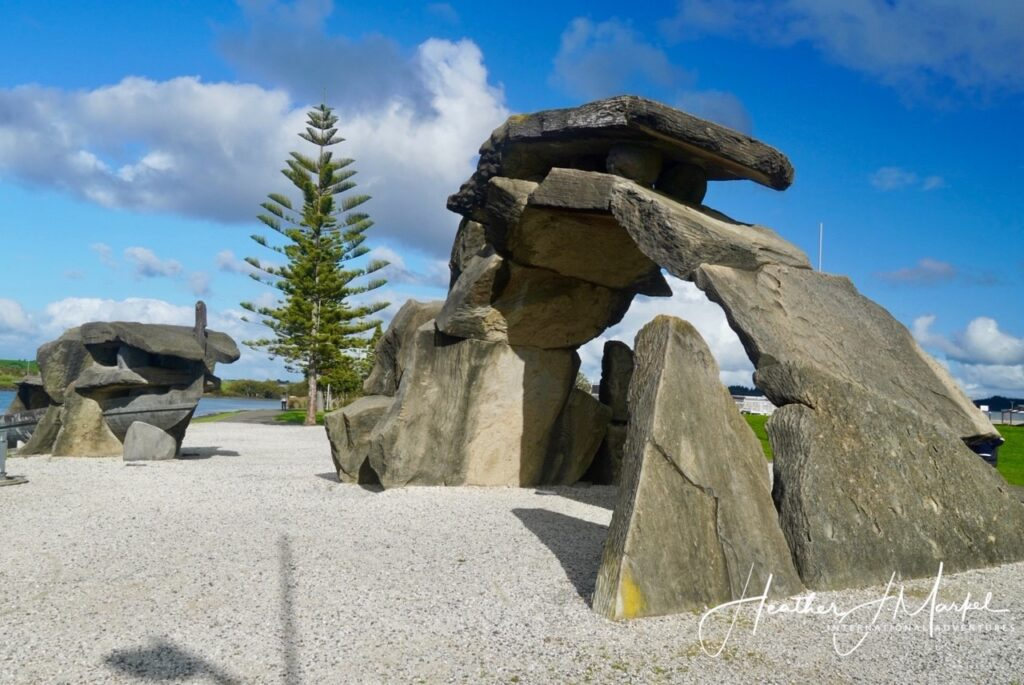 One of the sculptures along Whangarei's Sculpture Trail.