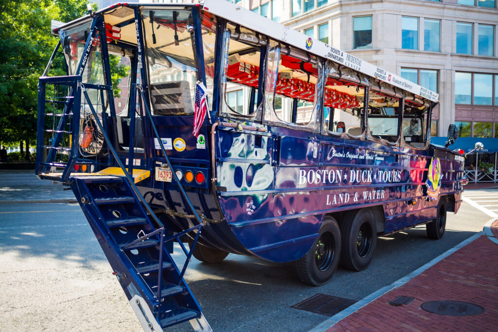 One of the vehicles used for Boston's Duck Tours