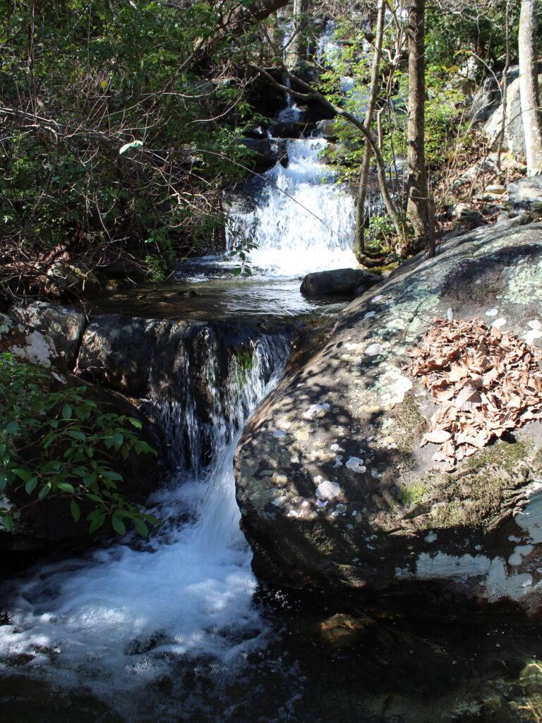One of three waterfalls along the Nubbin Creek Trail.