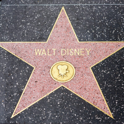 One of Walt Disney's stars on the Hollywood Walk of Fame.