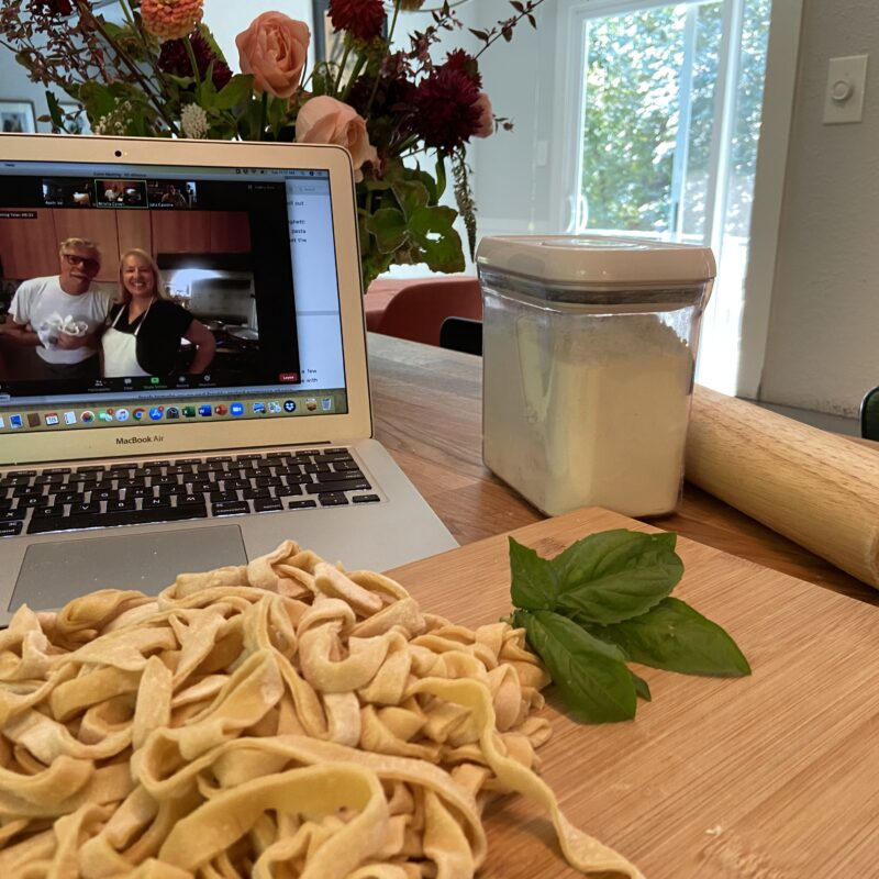 Online homemade pasta class with Mirella.