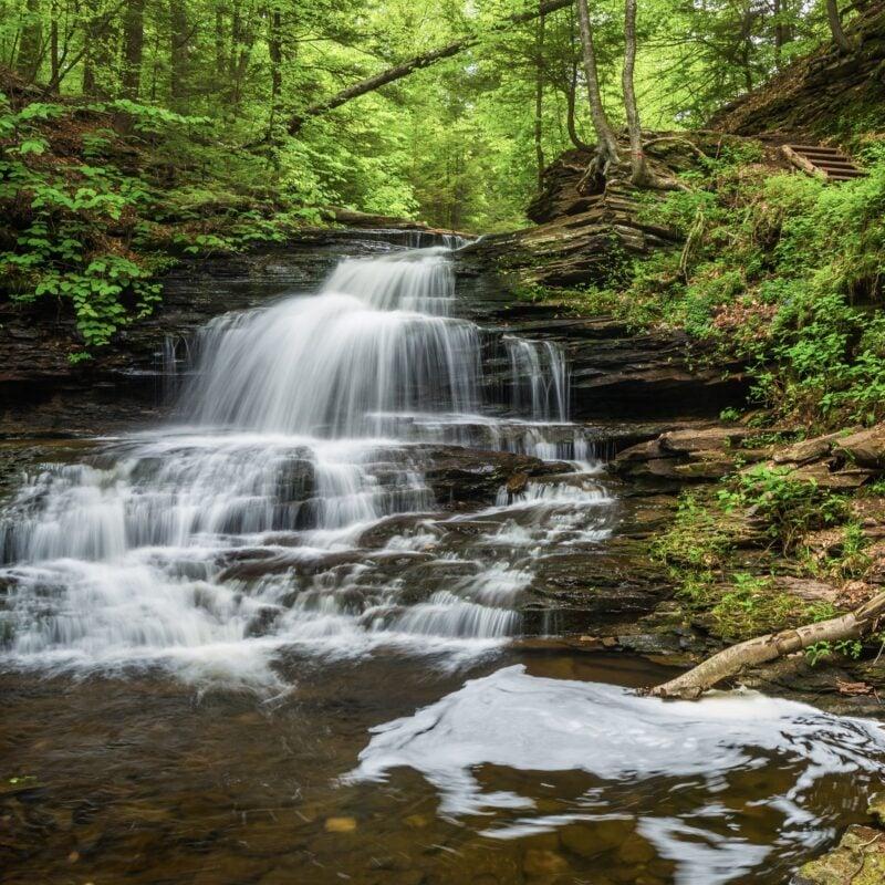 Onondaga Falls in Pennsylvania's Ricketts Glen State Park.