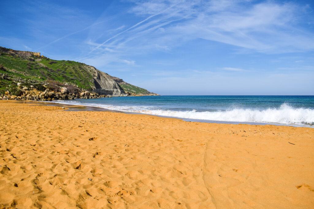 Orange Sand Beach in Malta.