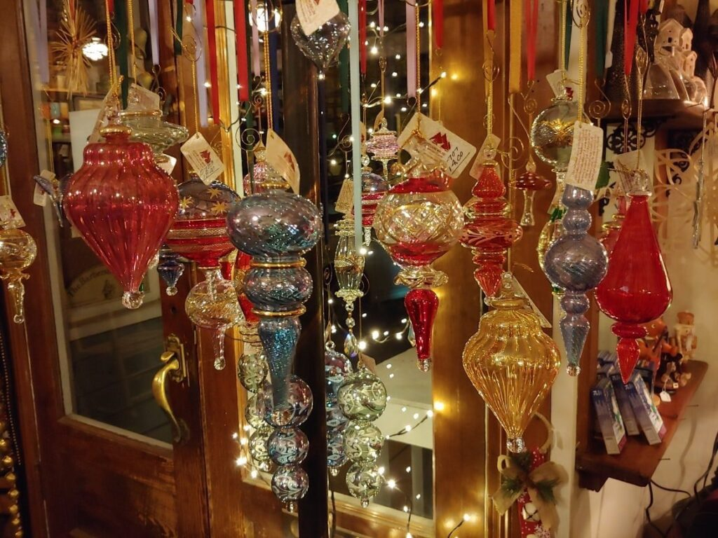 Ornaments for sale in Shepherdstown, West Virginia.