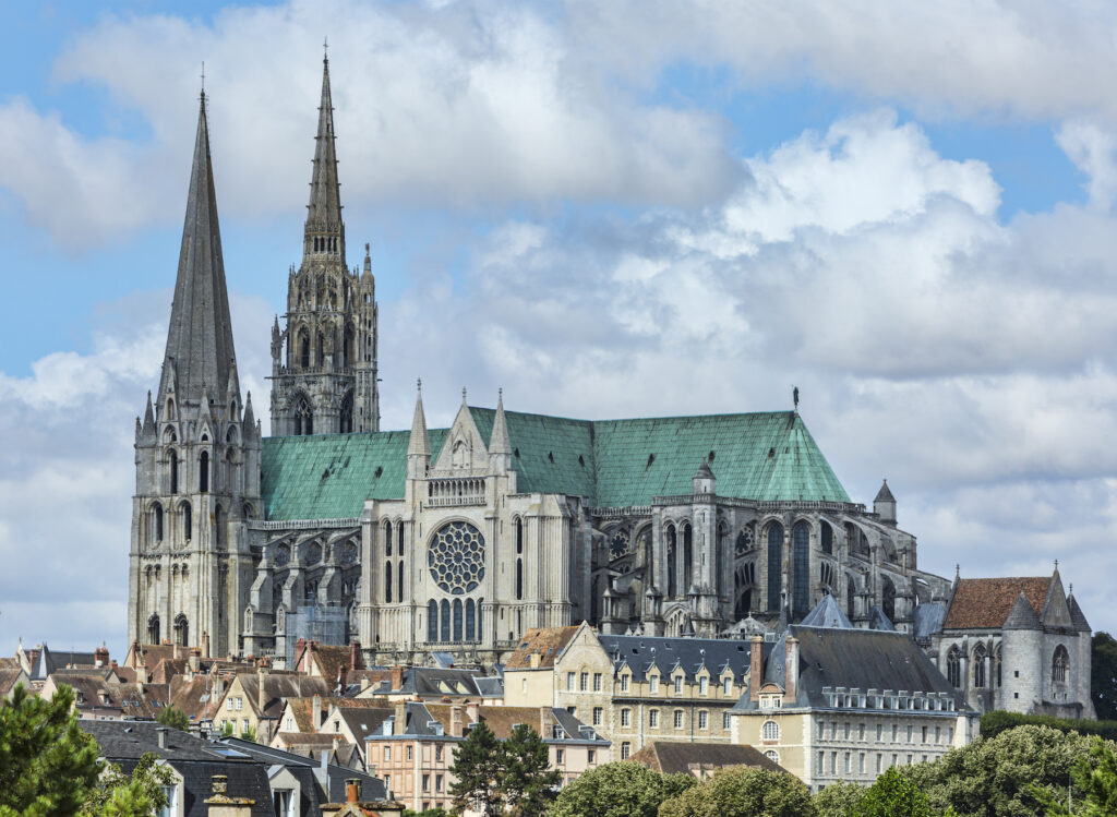 Our Lady of Chartres cathedral in France.