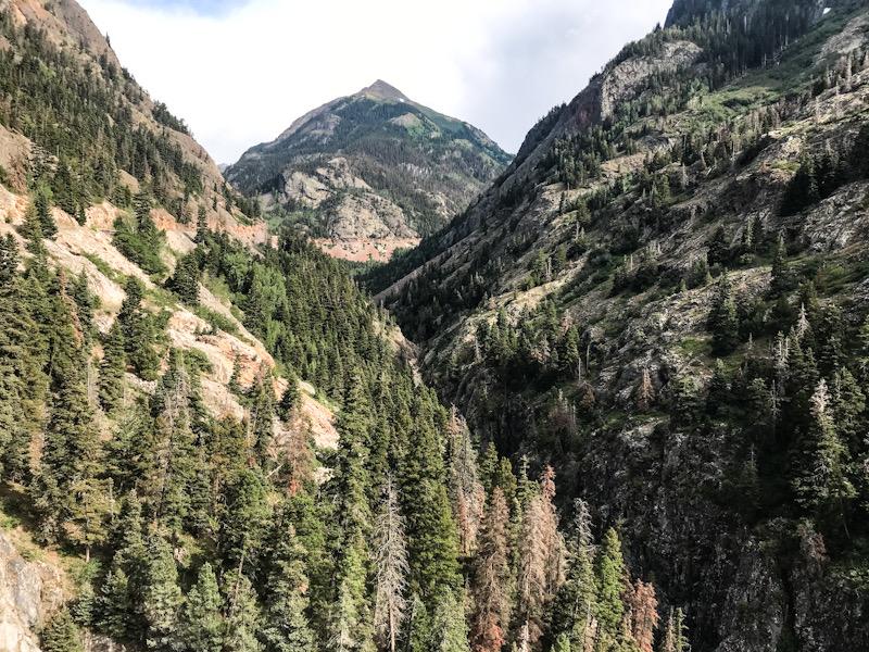 Ouray landscape in Colorado.