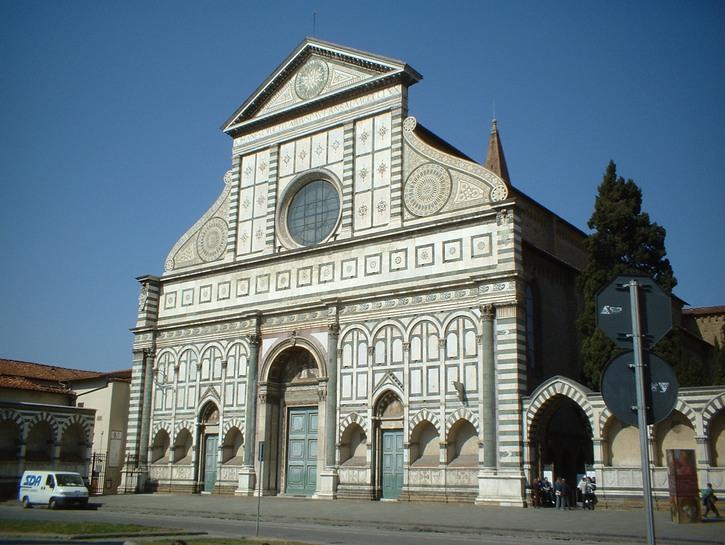 Outside of the Santa Maria Novella, world's oldest phramacy, Florence.