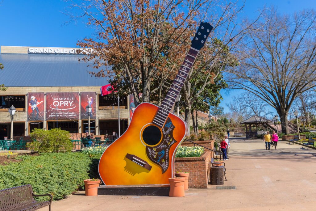 Outside the Grand Ole Opry.