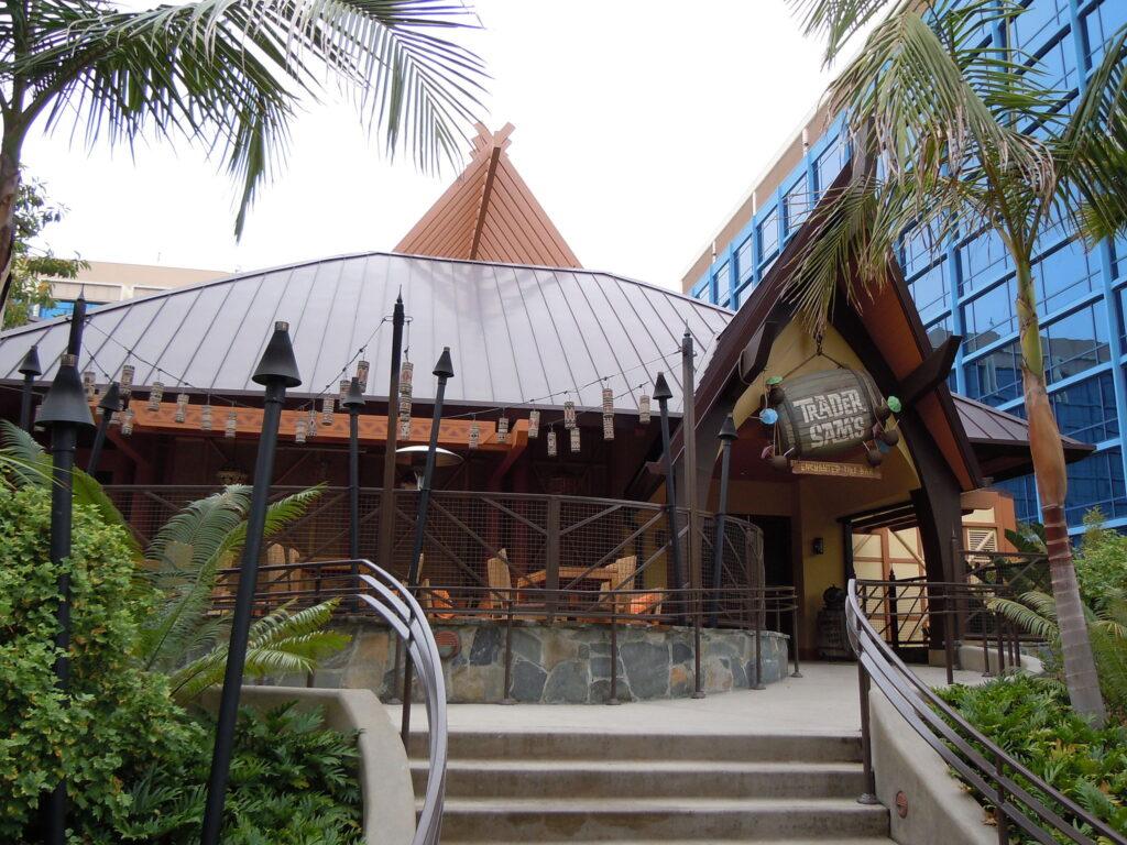 Outside Trader Sam's Enchanted Tiki Bar.