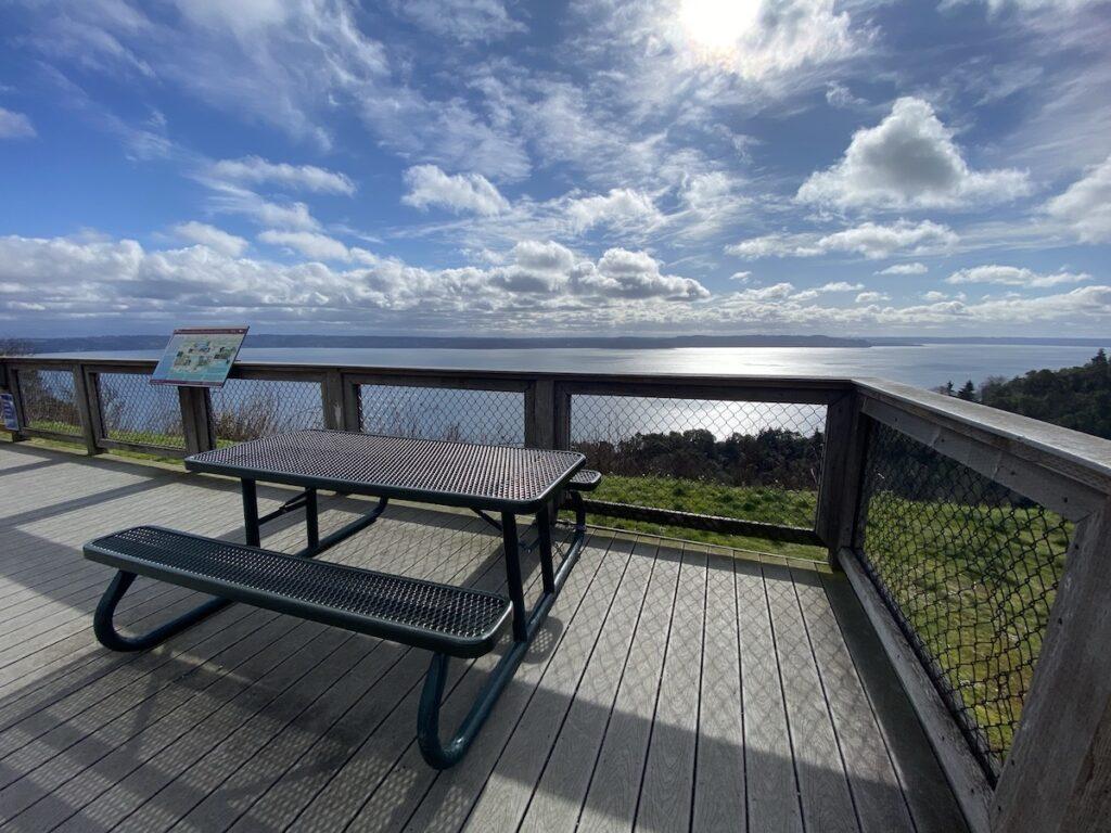 Overlook at Maury Island Marine Park.