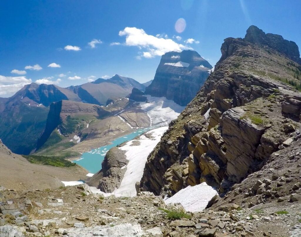 Overlook from Highline Trail in Glacier National Park.