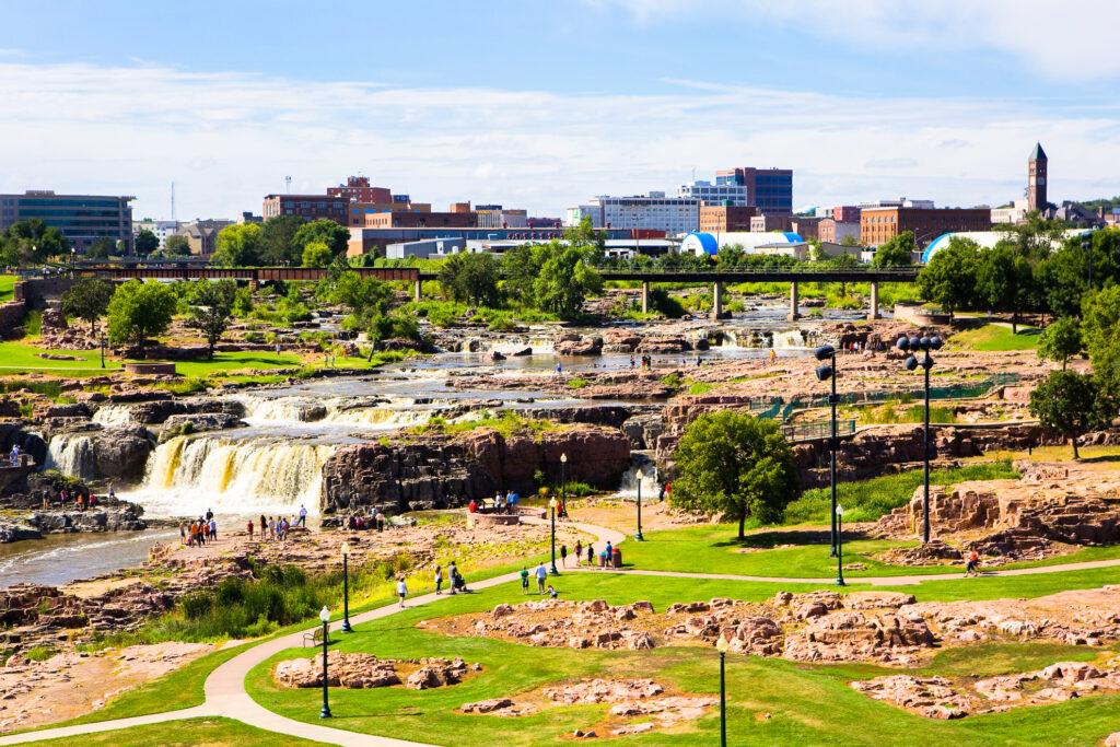 Overlooking Sioux Falls, South Dakota