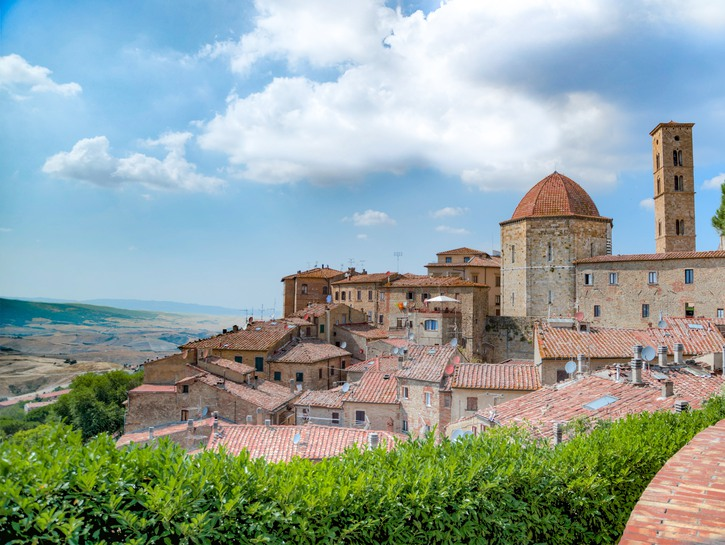 Overlooking the roofs of Volterra
