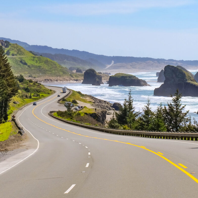 Pacific Coast Highway 101 in southern Oregon.
