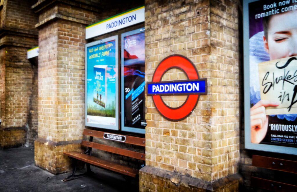 Paddington Station in London.