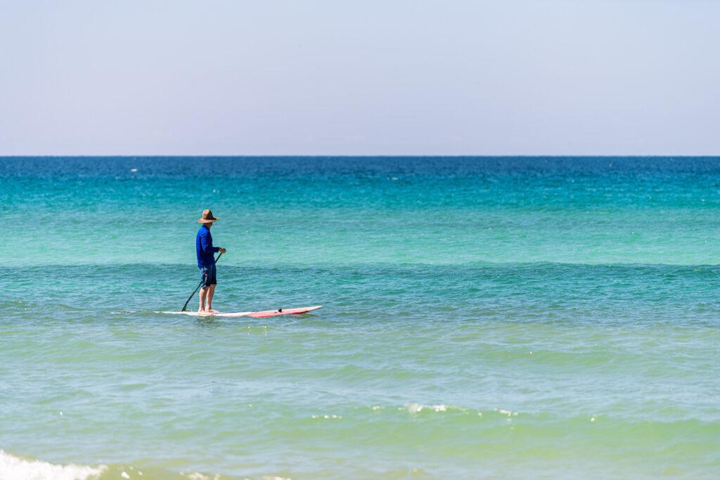 Paddleboarding off the coast of Pensacola, Florida.