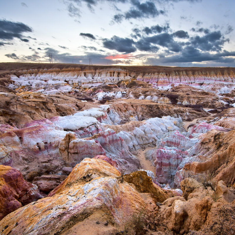 Paint Mines Interpretive Park in El Paso County, Colorado.