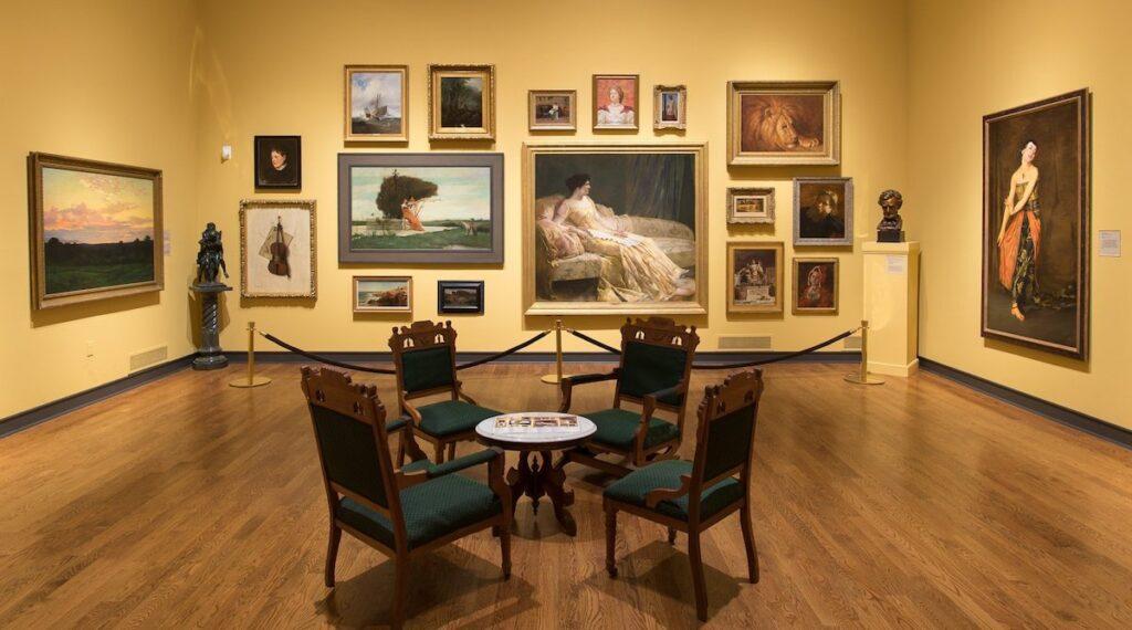 Paintings at Delaware Art Museum.
