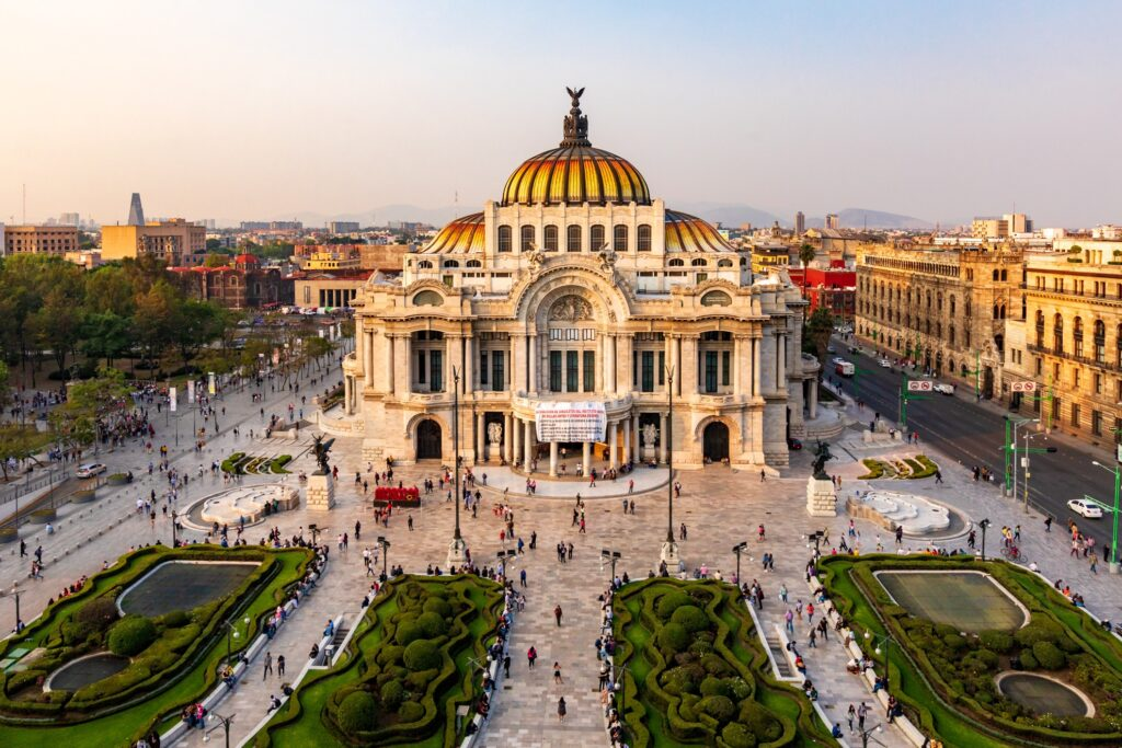 Palacio De Bellas Artes in Mexico City.