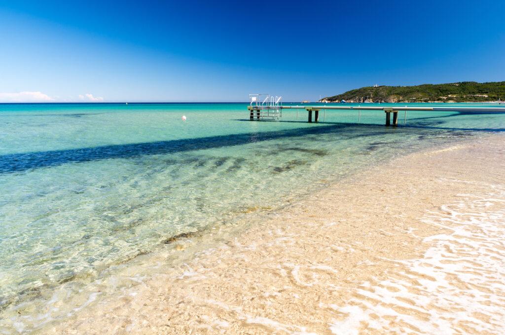 Pampelonne Beach in Saint Tropez, France.
