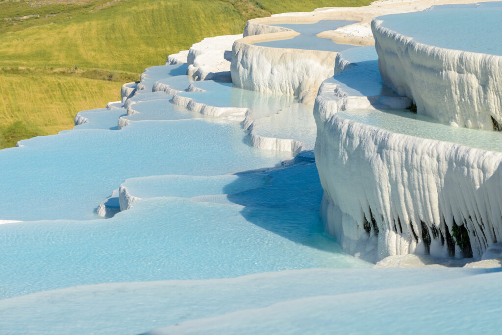 Pamukkale Hot Springs in Denizli, Turkey