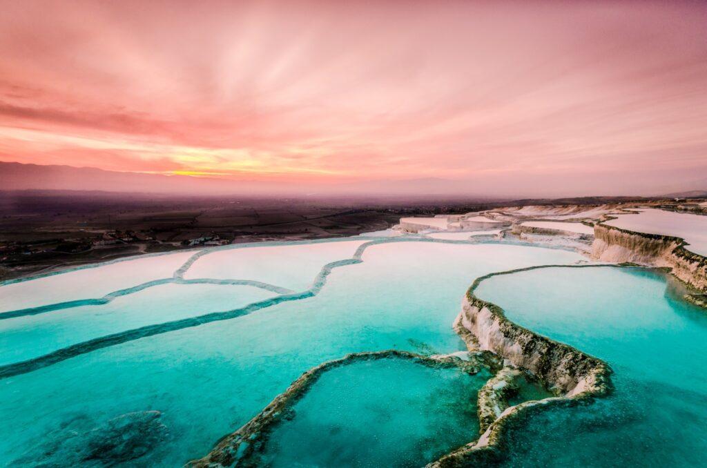Pamukkale Thermal Pools in Turkey.