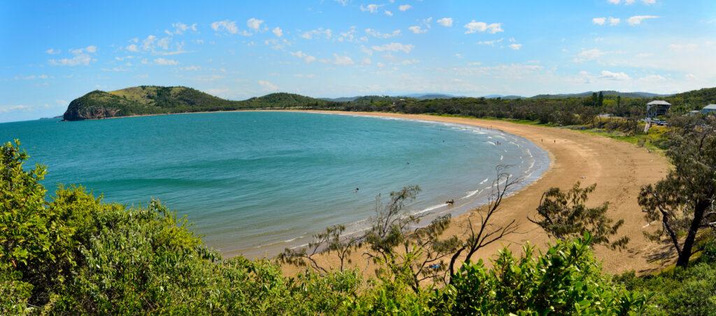 Panorama of Kemp Beach in Capricorn Coast National Park.