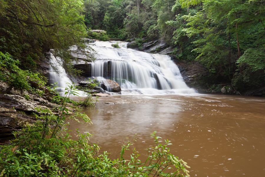 Panther Creek Falls near Turnerville, Georgia.