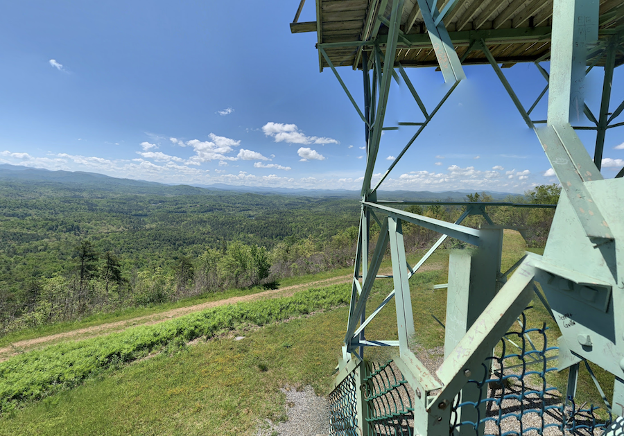 Panther Top Lookout in Nantahala National Forest.
