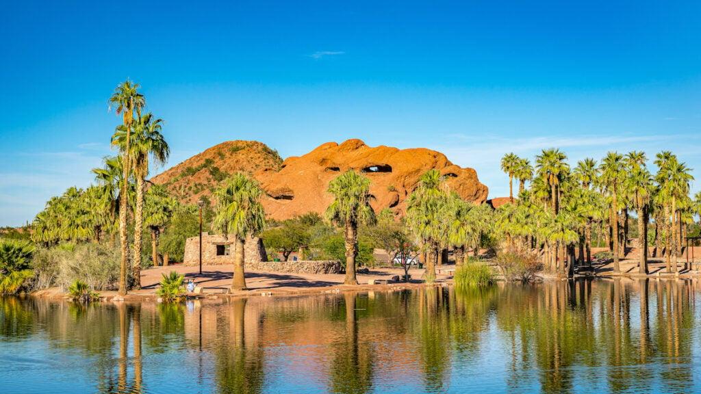 Papago Park in Phoenix, Arizona.
