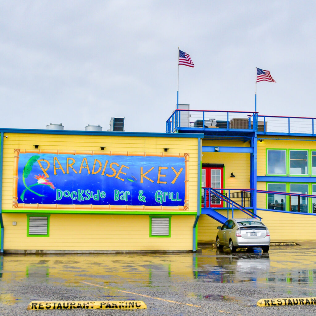 Paradise Key Dockside Bar and Grill in Rockport, Texas.