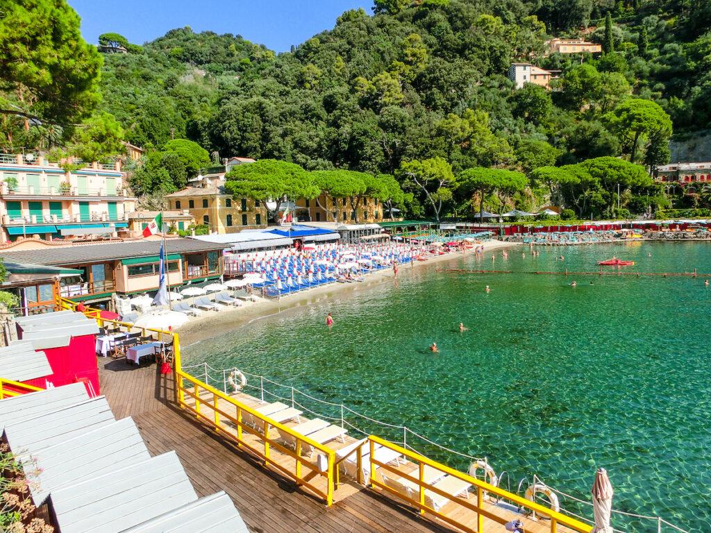 Paraggi Beach in Portofino, Italy.
