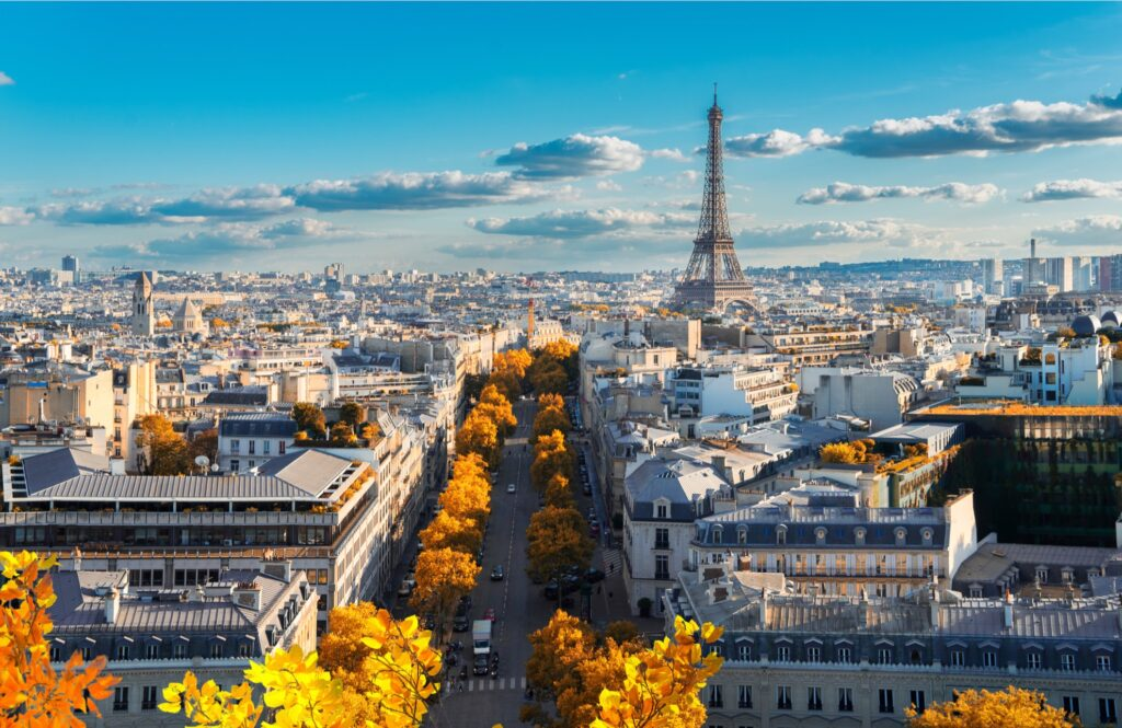Paris, France, during the fall.