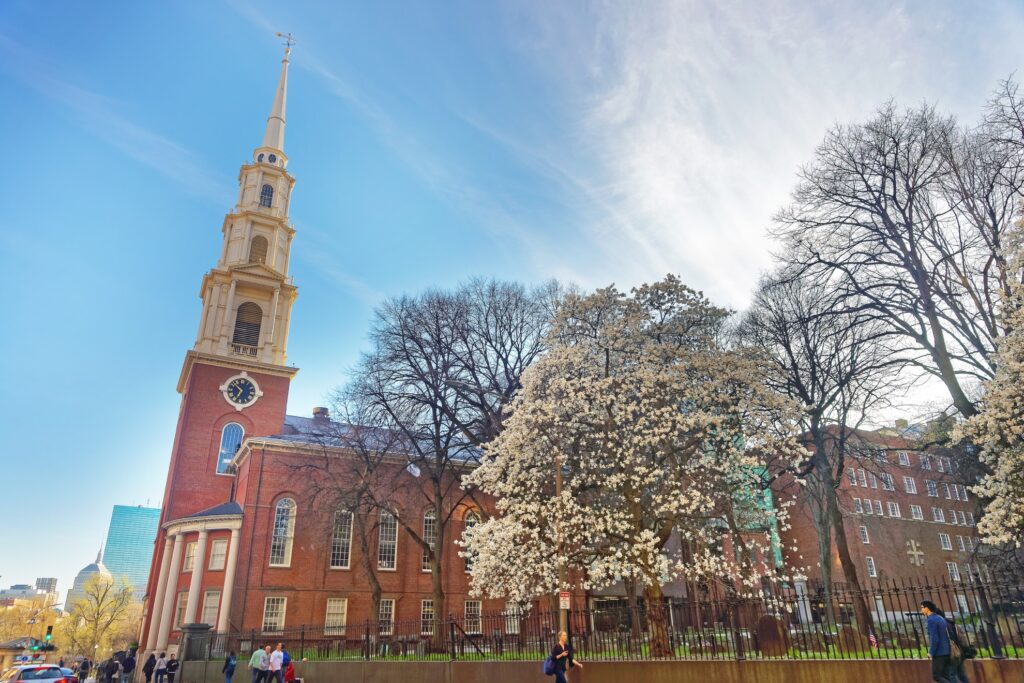 Park Street Church in Boston.