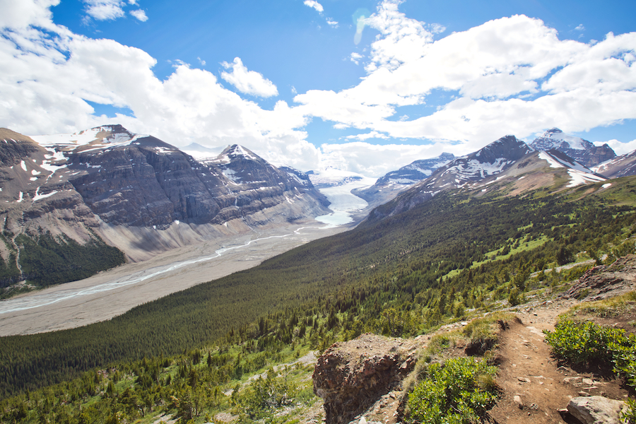 Parker Ridge Summit in Canada.