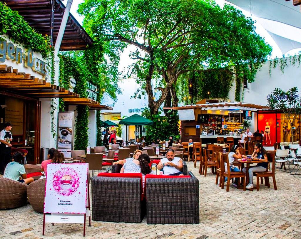 Paseo del Carmen shopping mall in Riviera Maya.