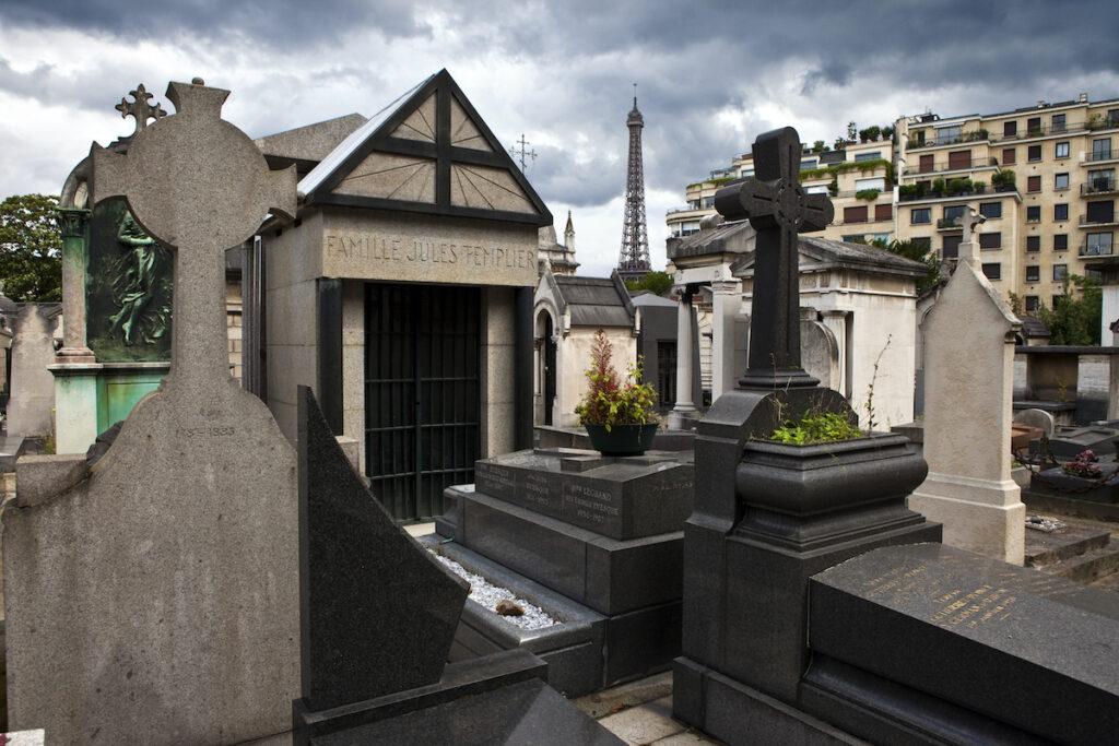 Passy Cemetery in Paris, France.