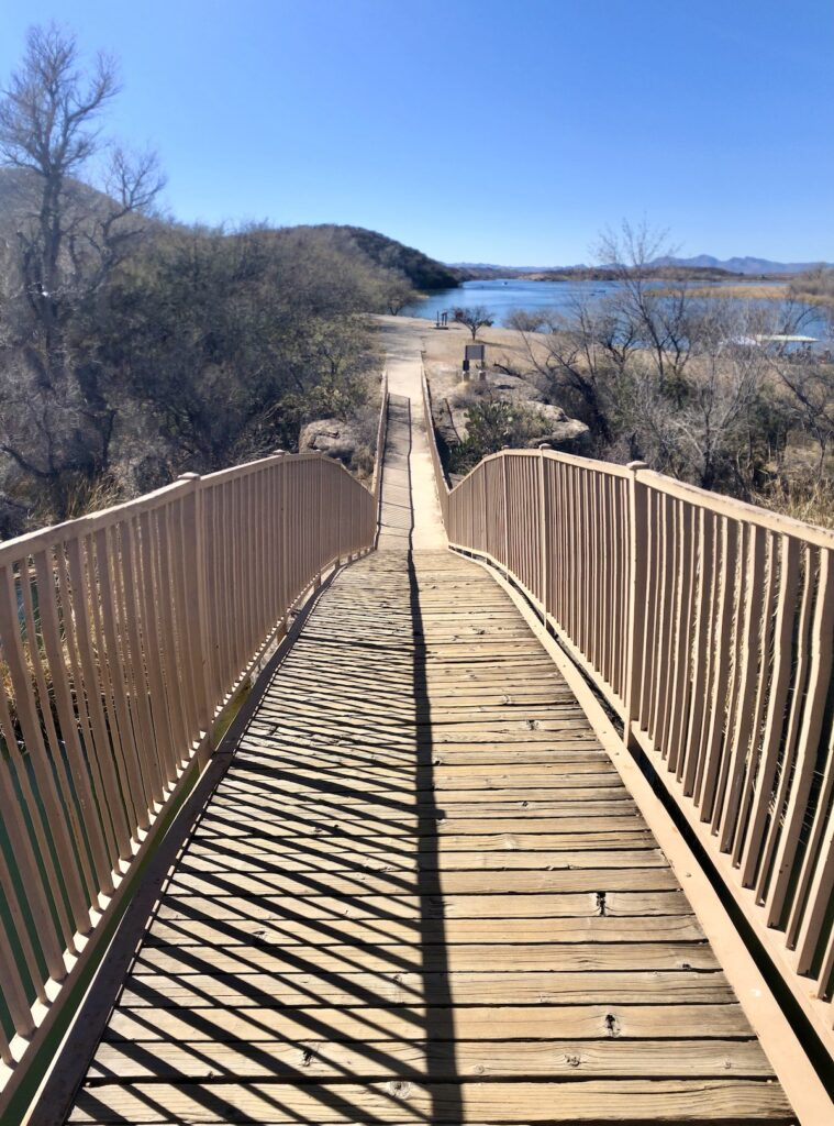 Patagonia Lake Bridge.