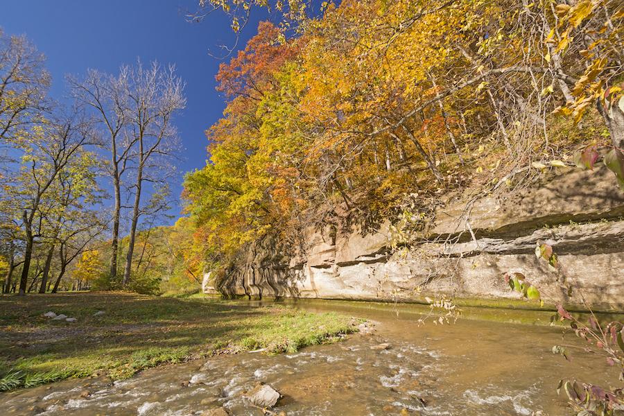 Pea's Creek in Ledges State Park, Iowa.