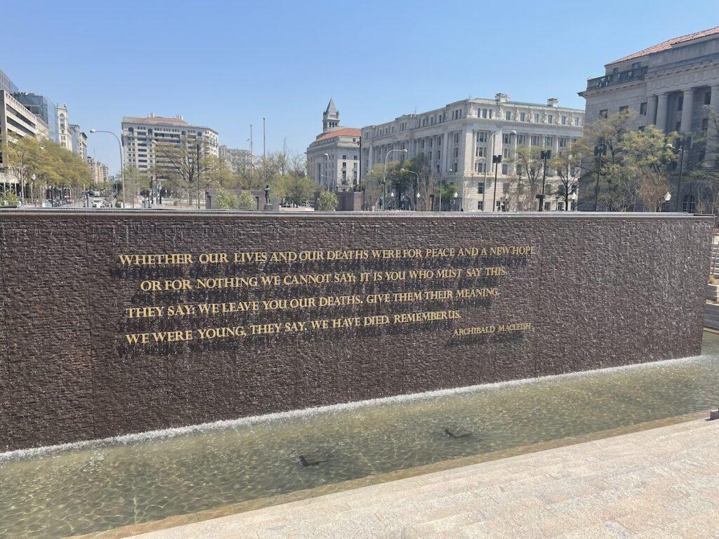 Peace Fountain, World War I Memorial.