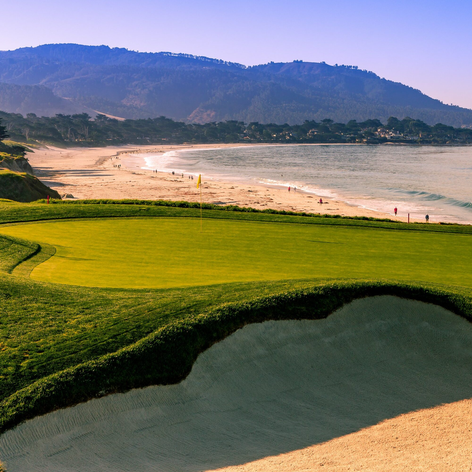 Pebble Beach Golf Links in Pebble Beach, California.
