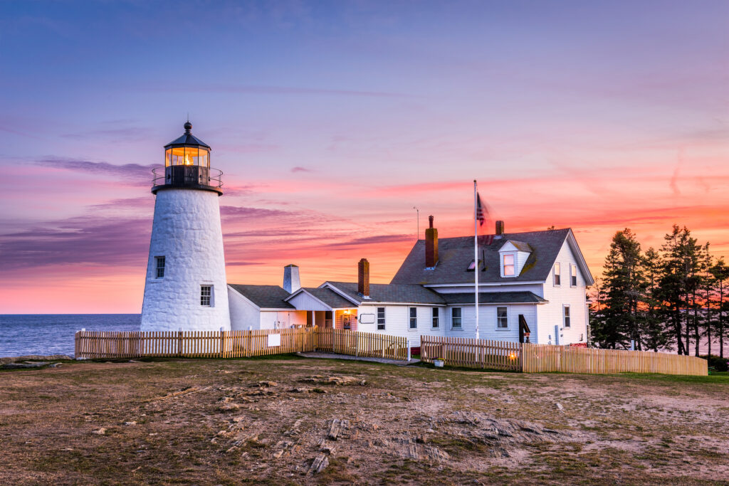 Pemaquid Point lighthouse in Maine.