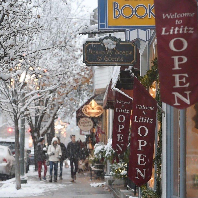 Pennsylvania town during winter