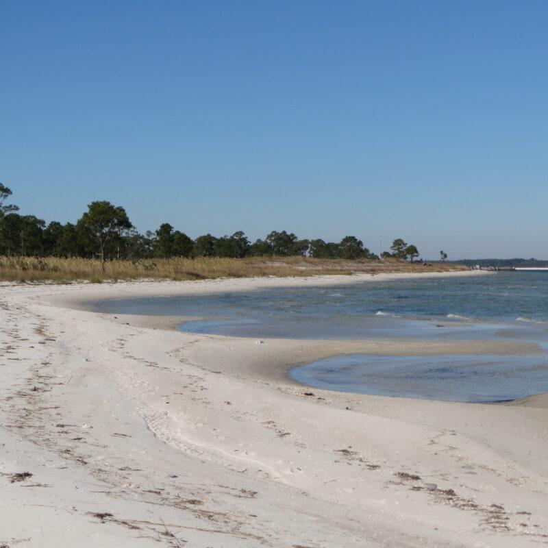 Pensacola Bay at Fort Pickens, Pensacola Beach, Florida.