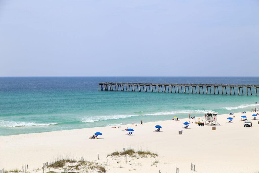 Pensacola beach views in Florida.