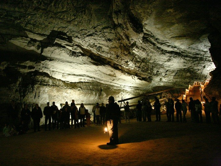 People in Mammoth Cave, Kentucky