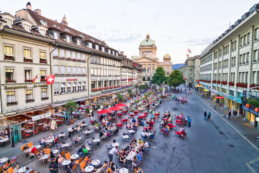 People watching in Bern.