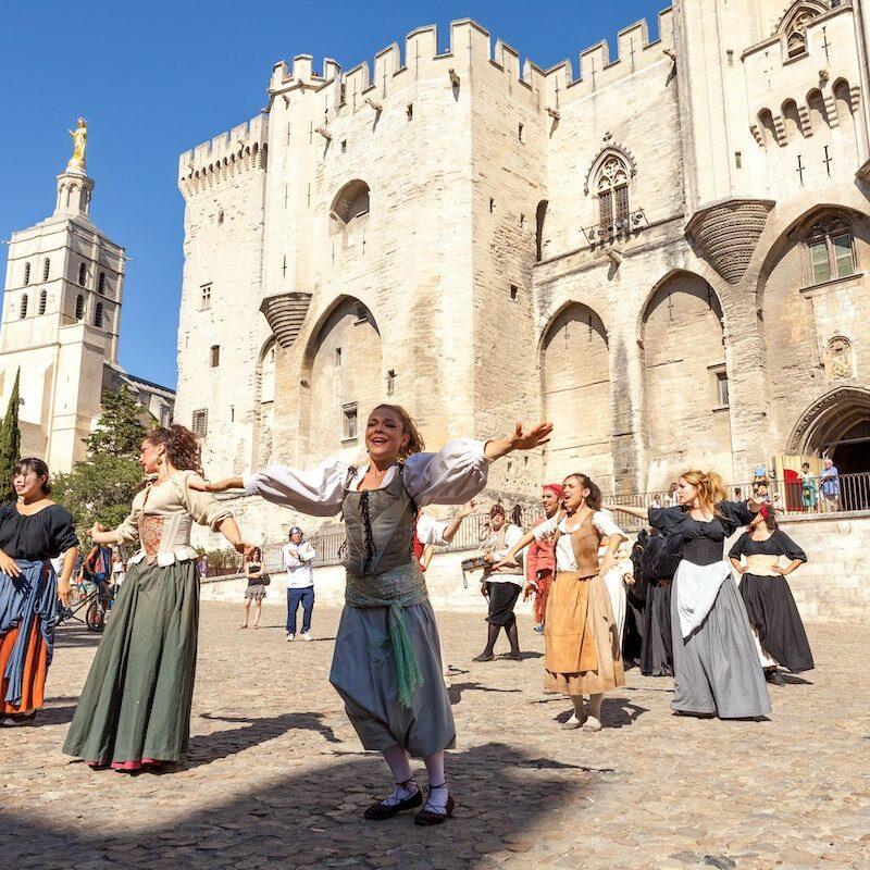 Performers at Avignon Festival.