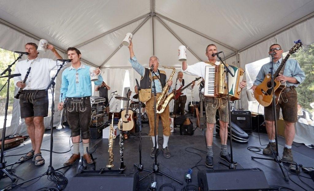 Performers onstage at Breckenridge's Oktoberfest